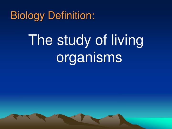 Biology Definition: