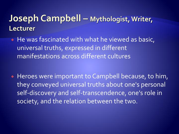 Joseph Campbell –