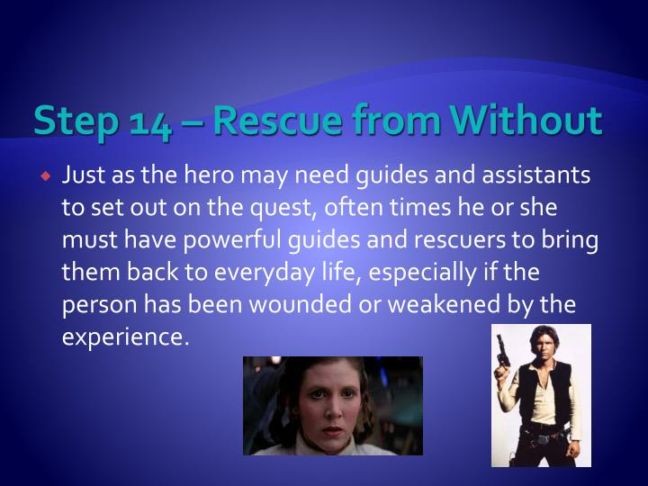 Step 14 – Rescue from Without
