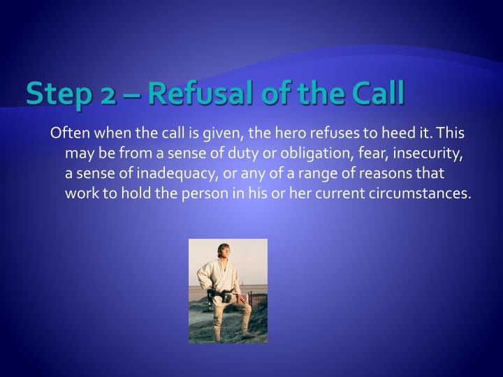 Step 2 – Refusal of the Call