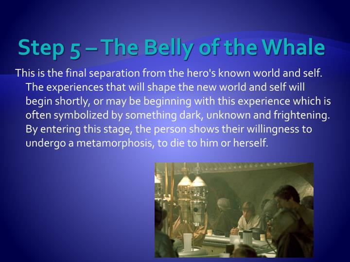 Step 5 – The Belly of the Whale