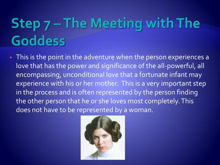 Step 7 – The Meeting with The Goddess
