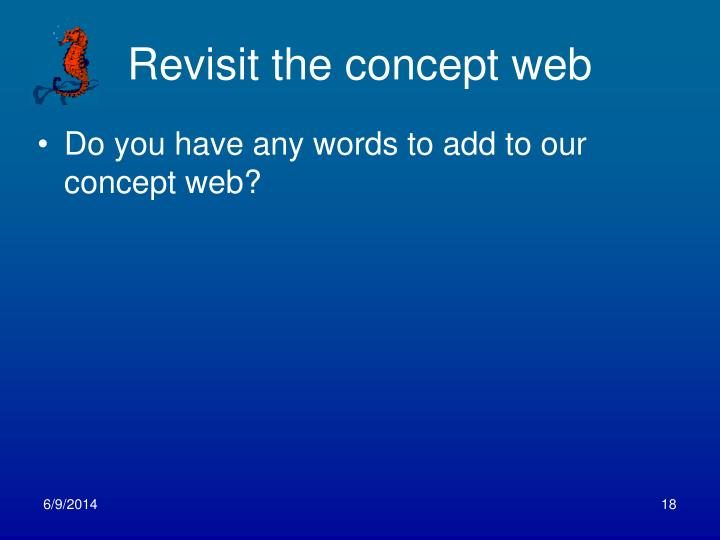 Revisit the concept web