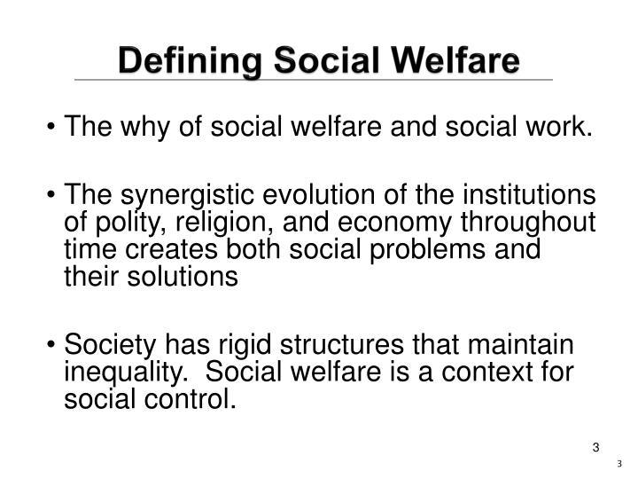 Defining Social Welfare