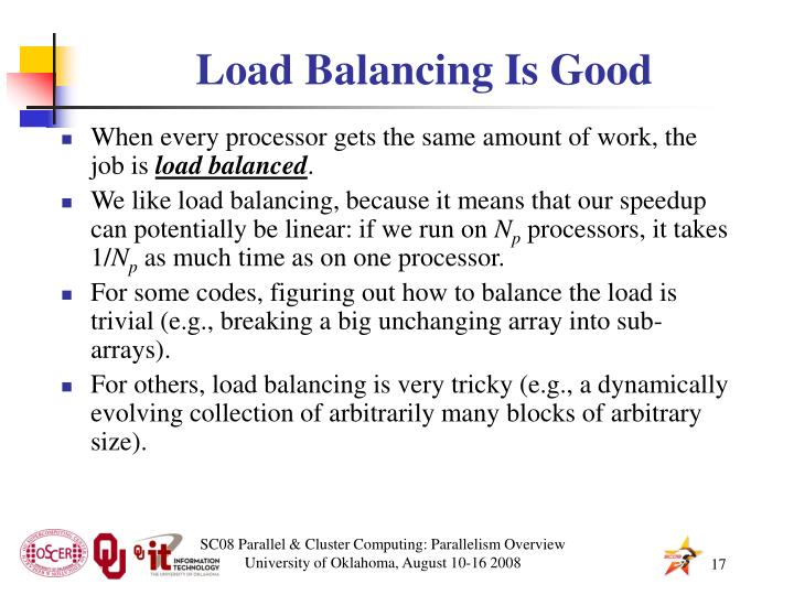 Load Balancing Is Good