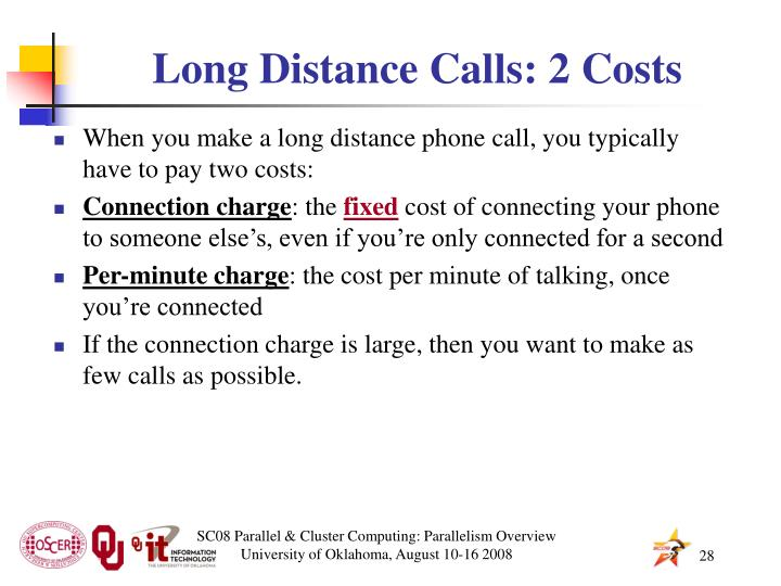 Long Distance Calls: 2 Costs