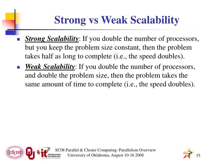 Strong vs Weak Scalability