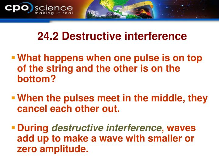 24.2 Destructive interference