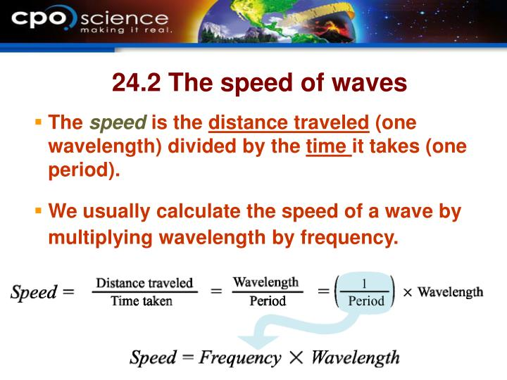 24.2 The speed of waves