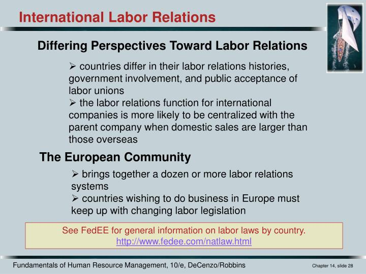 international labor relations In the context of international labor relations, one of the reasons for a decline in union influence is the: a introduction of a reciprocal tax treaty b retention of low-skilled tasks in an international firm&#039s home country.