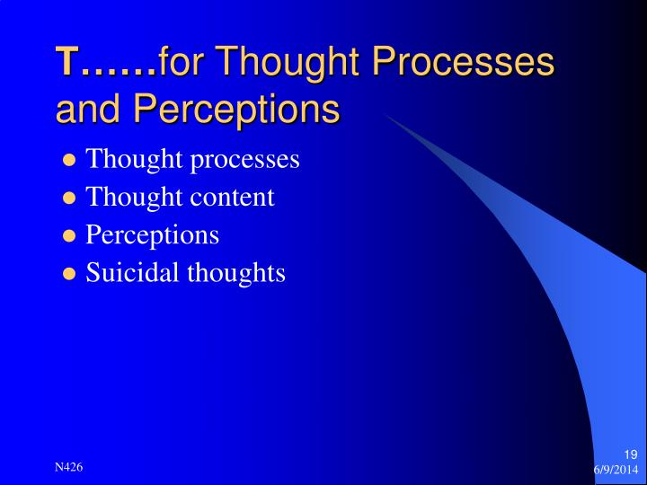 perception in thought processes essay Running head cognitive processes cognitive processes laura dove university of phoenix cognitive processes introduction cognitive processes are very vital.