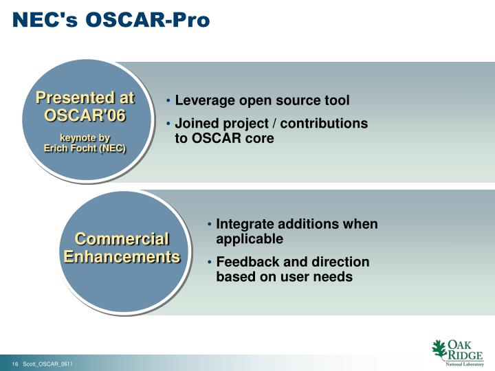 NEC's OSCAR-Pro