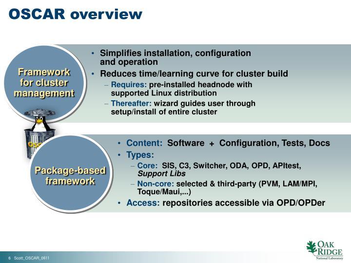 OSCAR overview