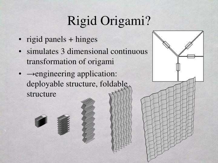 PPT - Rigid Origami Simulation PowerPoint Presentation ... - photo#16