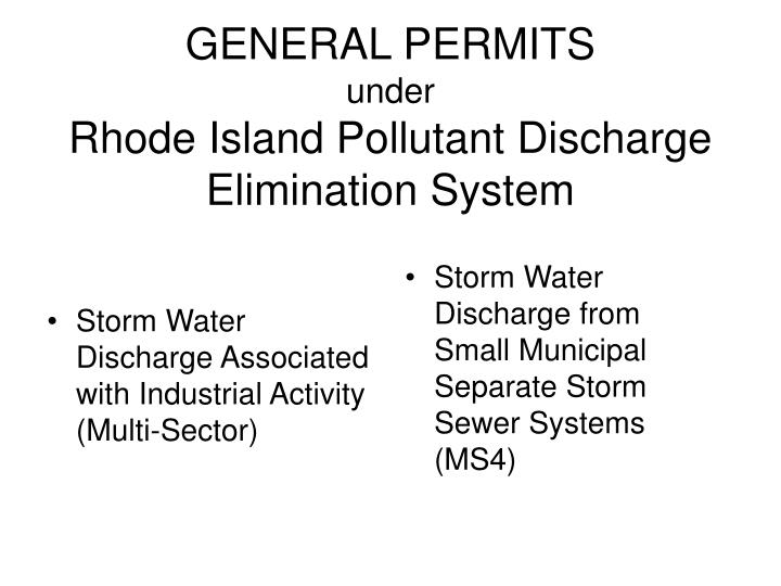 Storm Water Discharge Associated with Industrial Activity (Multi-Sector)
