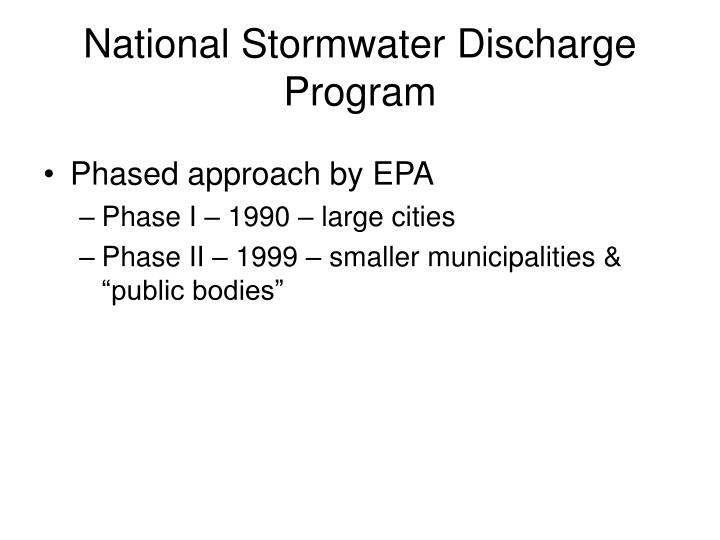 National Stormwater Discharge Program