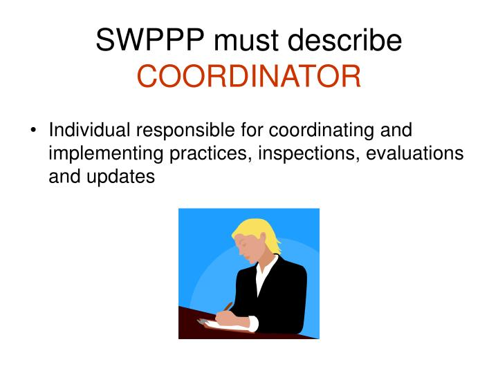SWPPP must describe
