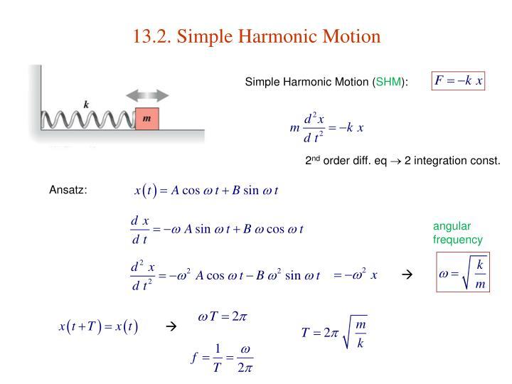 13.2. Simple Harmonic Motion