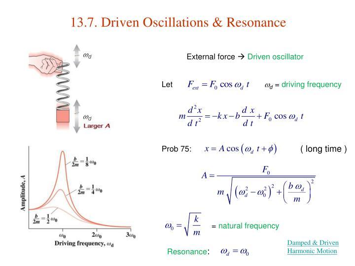 13.7. Driven Oscillations & Resonance
