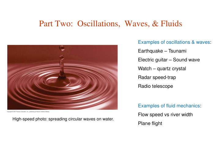 Examples of oscillations & waves