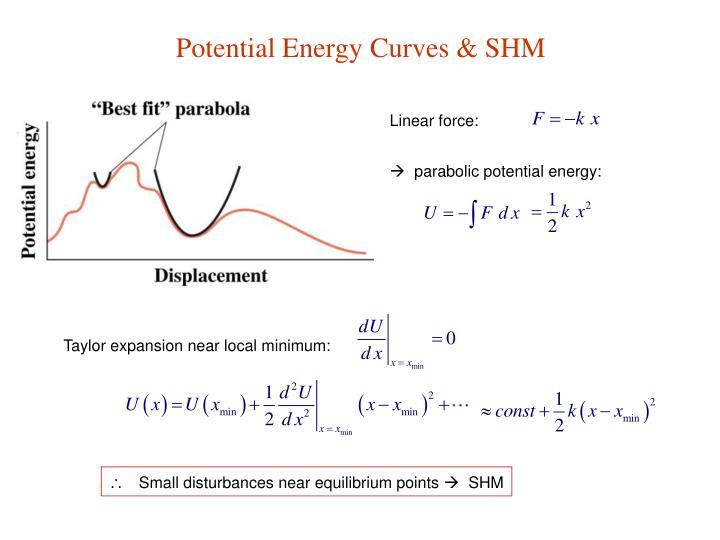 Potential Energy Curves & SHM