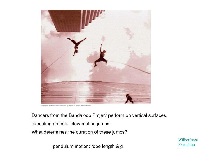Dancers from the Bandaloop Project perform on vertical surfaces, executing graceful slow-motion jumps.