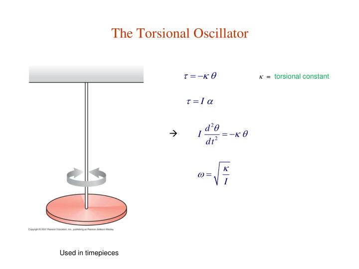 The Torsional Oscillator