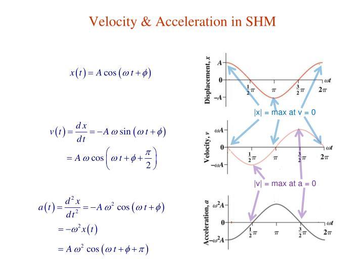 Velocity & Acceleration in SHM