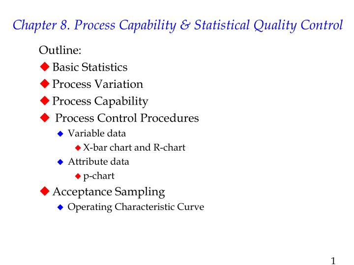 process capability and statistical process control Topics covered: shewhart spc and process capability instructor: david hardt  note: the slides used in this lecture can be found at the lecture slides tab.