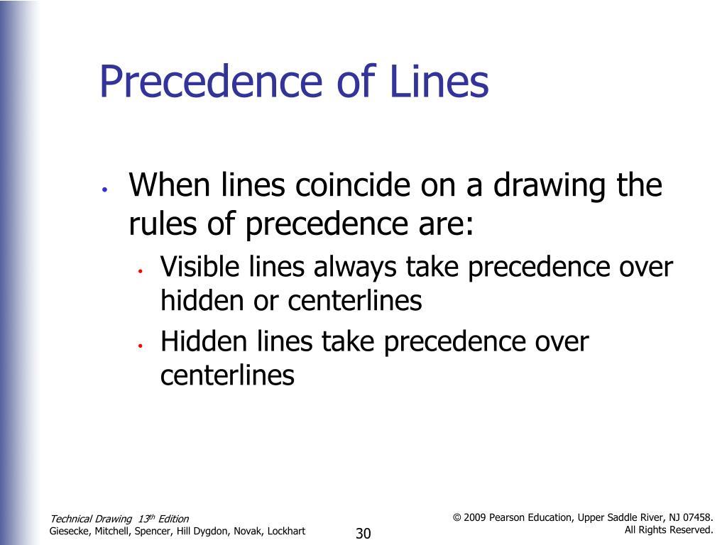 Precedence of Lines
