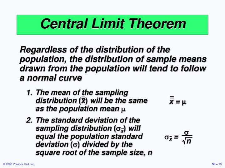 The mean of the sampling distribution
