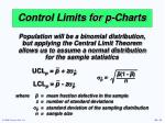control limits for p charts