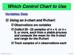 which control chart to use