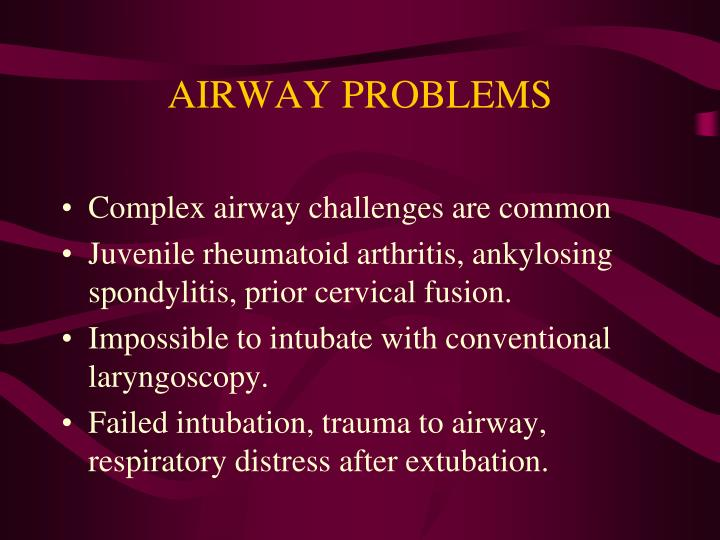 Airway problems