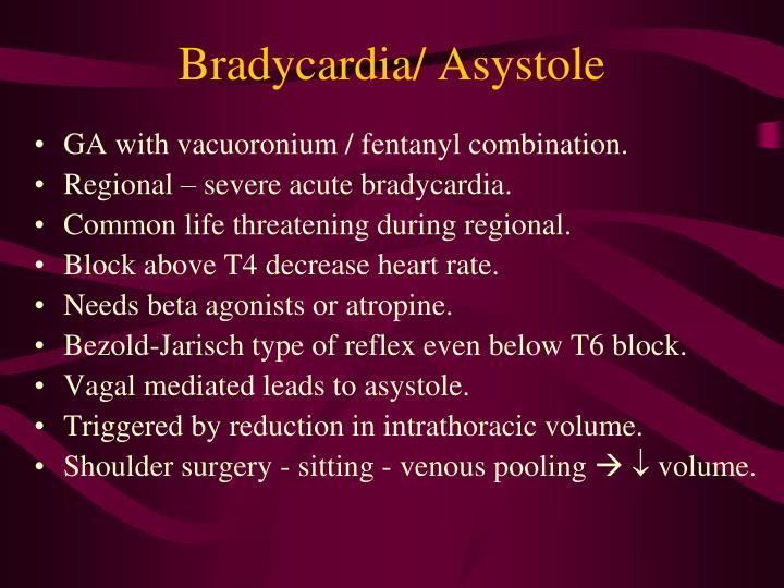 Bradycardia/ Asystole