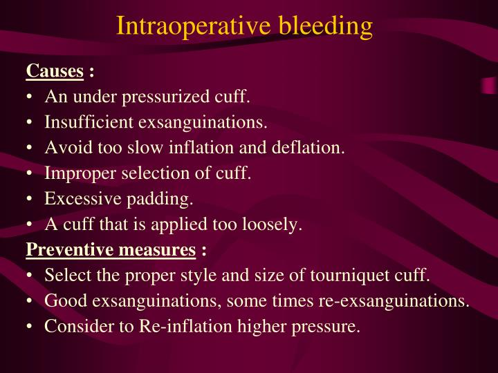Intraoperative bleeding