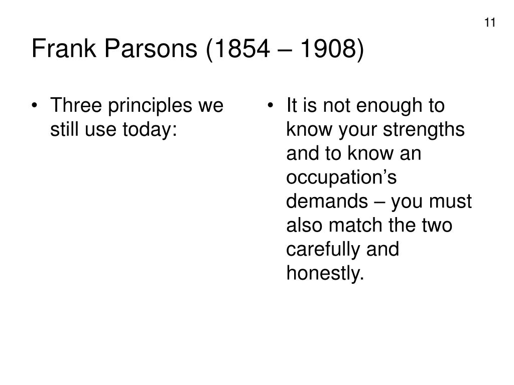 Three principles we still use today: