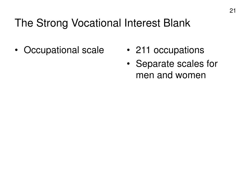 Occupational scale