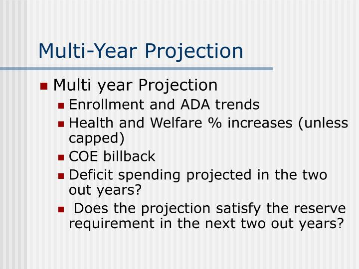 Multi-Year Projection