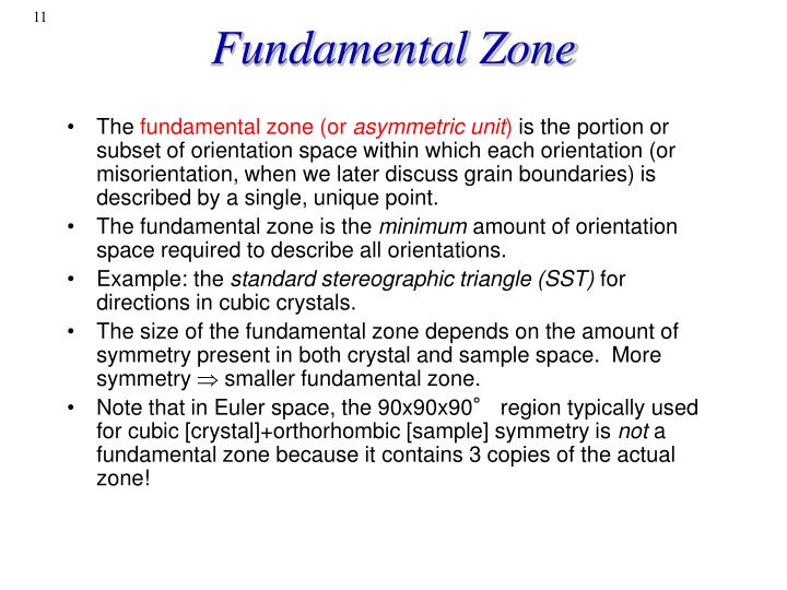 Fundamental Zone
