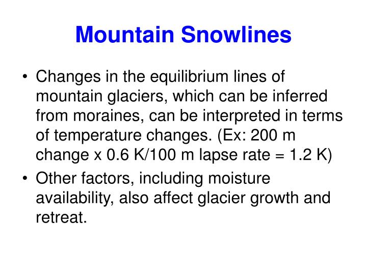 Mountain Snowlines