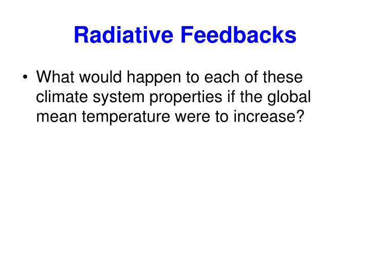 Radiative Feedbacks