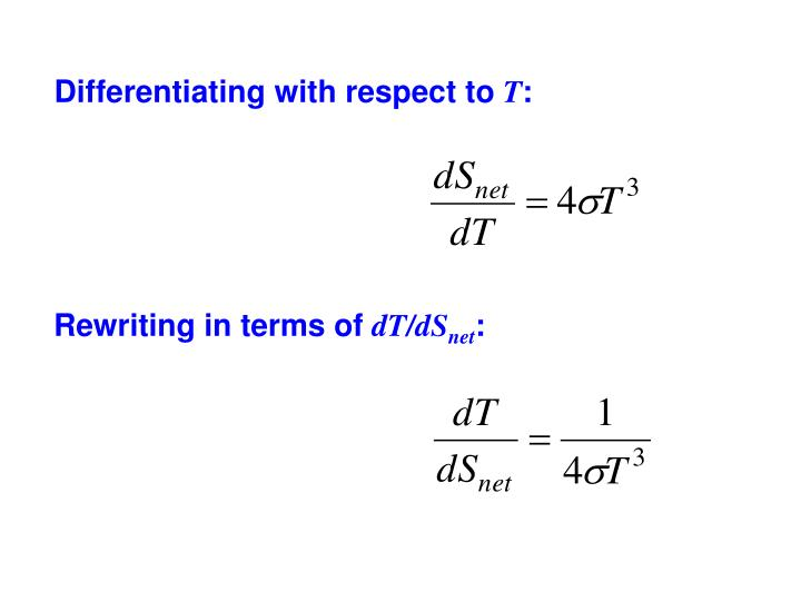 Differentiating with respect to