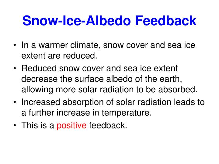 Snow-Ice-Albedo Feedback