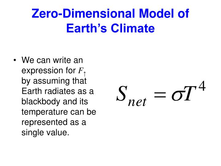 Zero-Dimensional Model of Earth's Climate