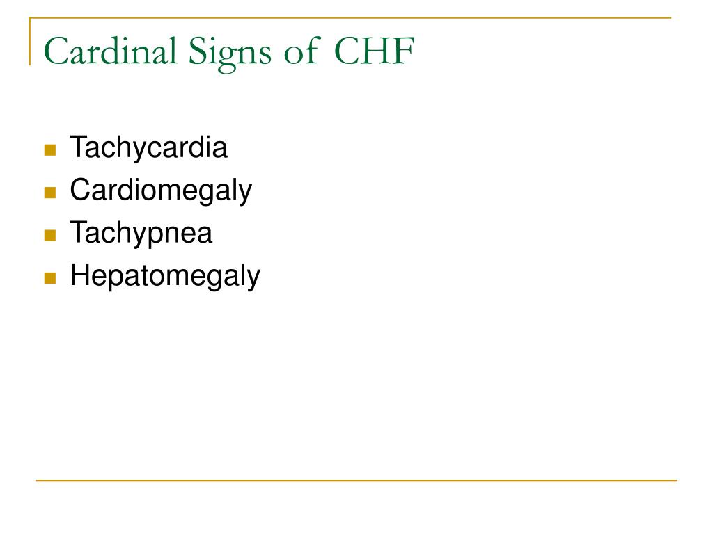 Cardinal Signs of CHF
