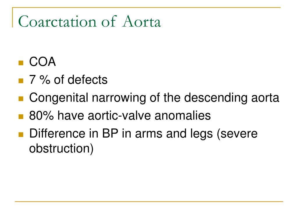 Coarctation of Aorta