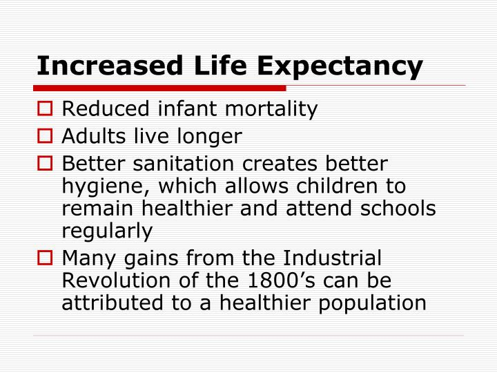 Increased Life Expectancy