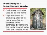 more people more human waste