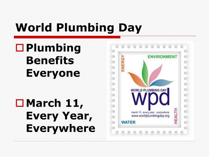 World Plumbing Day